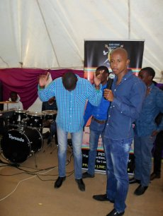 Prophet Penuel commanding his church member to turn into a horse (Photo Credit: Facebook)