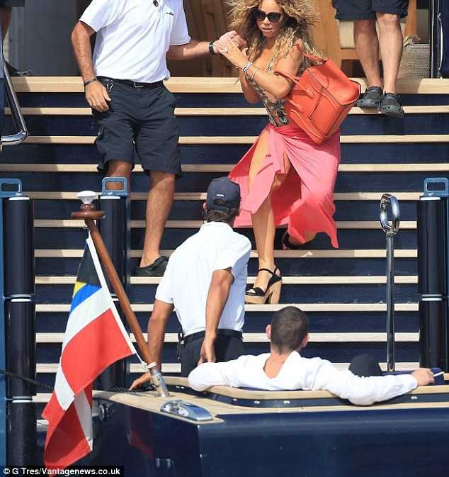 Lucky they're there! James' trusty deckhand dived in to rescue Mariah as her ankle gave way on the stairs