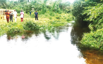 Atang River in Akwa Ibom State where eight pupils drowned on their way back from school. (Photo Credit: Punch)