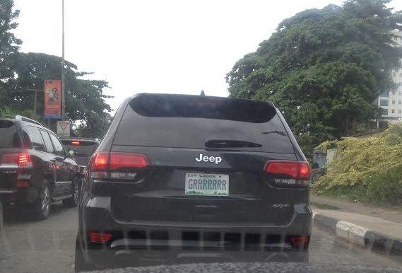 hilarious car number plates (Credit: linda Ikeji)