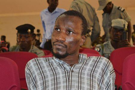 Mahamat Mustapha Bananaye, a man accused of being a high ranking member of insurgent group Boko Haram, attends his trial in N'Djamena, Chad, August 26, 2015. (Photo Credit: Reuters/Moumine Ngarmbassa)