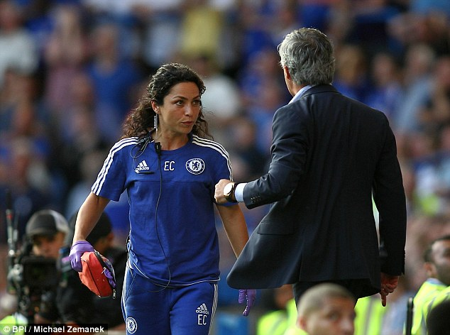 Mourinho was mad at  Dr. Eva during Saturday's game