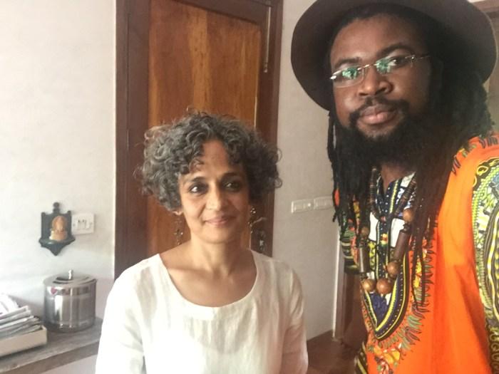 Onyeka Nwelue and Arundhati Roy (Photo Credit: Onyeka Nwelue)