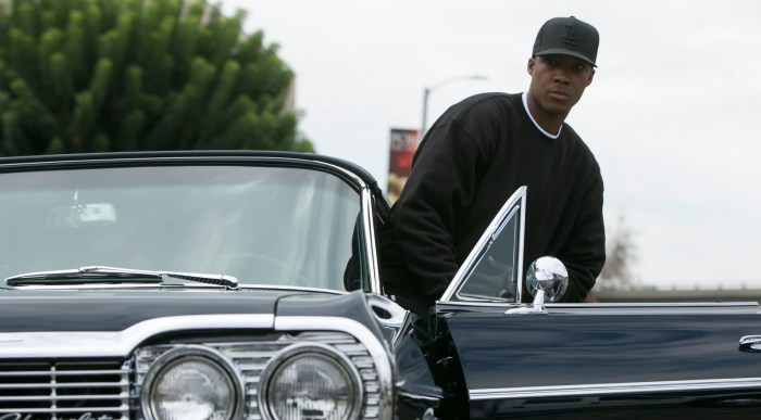 "Corey Hawkins as Dr. Dre, in a scene from the film, ""Straight Outta Compton."" (Photo Credit: Jaimie Trueblood/Universal Pictures)"