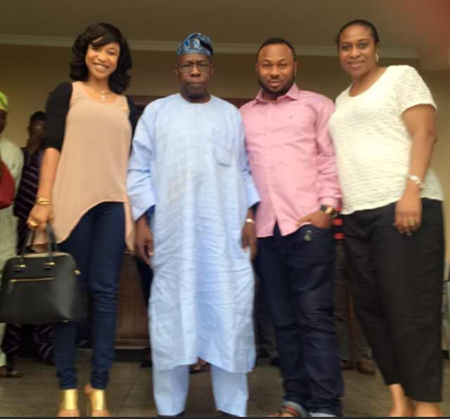 Tonto Dikeh meets her father-in-law (Photo Credit: Nairaland)