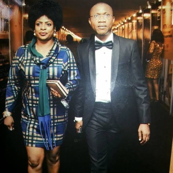 Toyin and Steve Nwosu pictured arriving an event
