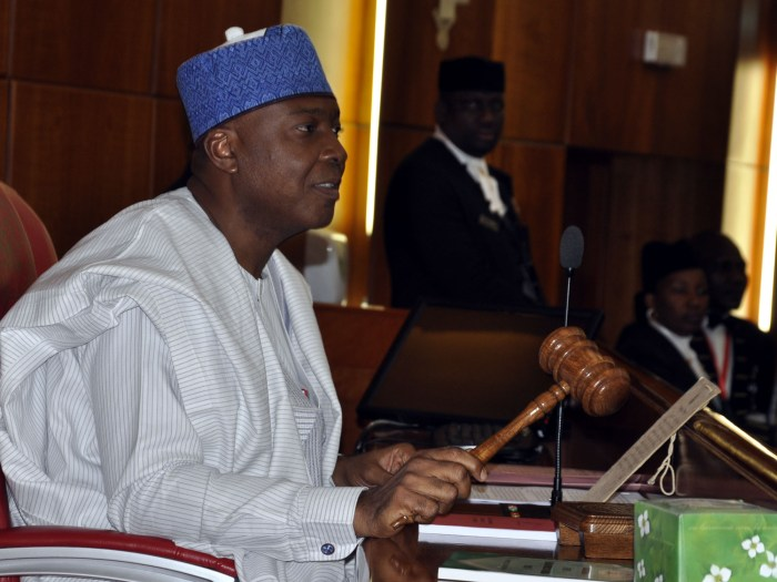 Nigeria's Senate President, Dr. Bukola Saraki