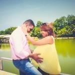 couple love kiss pregnant pregnancy