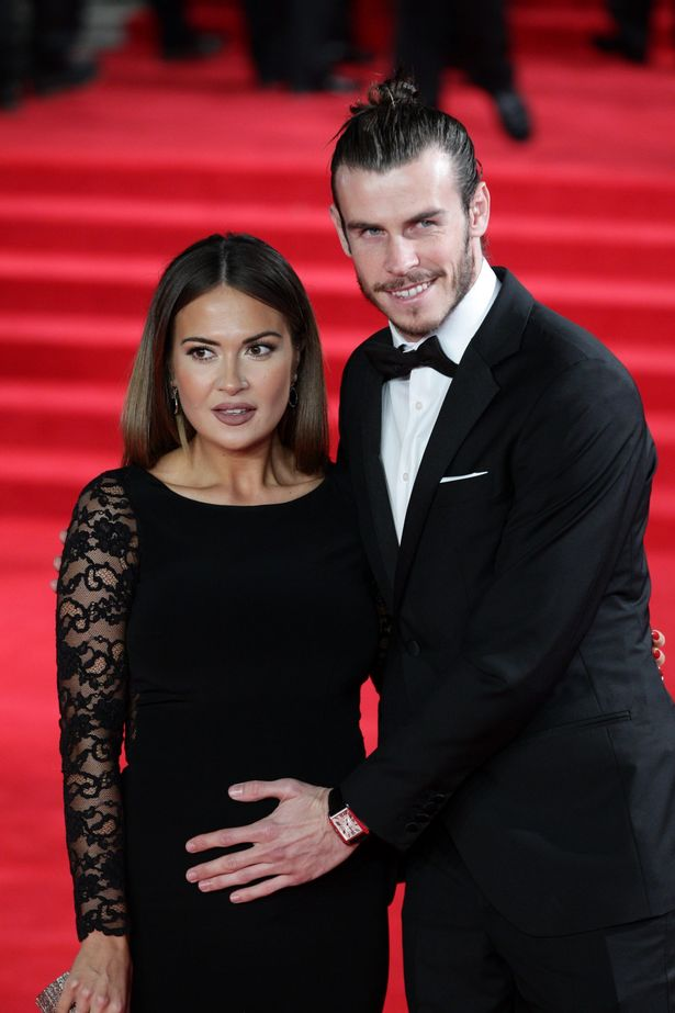 Gareth-Bale-and-Emma-Rhys-Jones-attend-the-Royal-World-Premiere-of-Spectre-at-Royal-Albert-Hall
