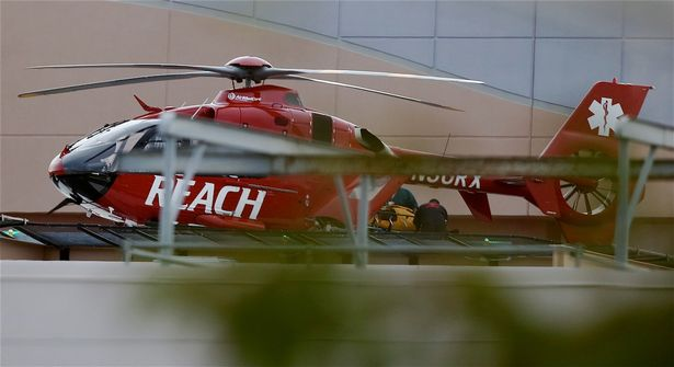 Lamar Odom being airlifted out of Las Vegas |Mariotto/fresh/boricio INFphoto.com