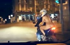 Naked girl spotted riding bike on busy road in the city of Rostov-on-Don, in south-western Russia's Rostov Oblast region