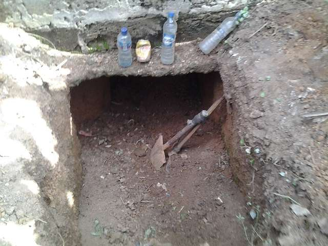 Large tunnel dug into a banking hall by suspected robbers in Ondo State | Channels TV