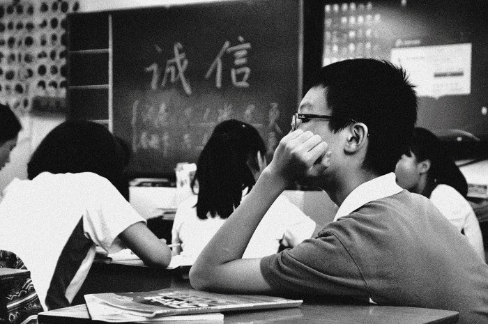 history, students in class