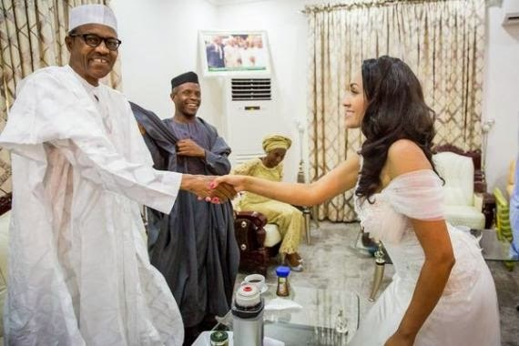 President-Elect, Muhammadu Buhari was at the wedding ceremony of Adams Oshiomhole which took place on Friday, May 16th 2015.