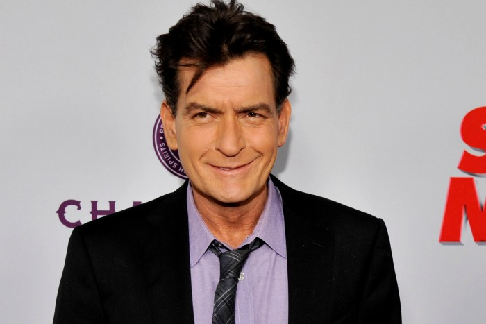 "FILE - In this April 11, 2013 file photo, Charlie Sheen, a cast member in ""Scary Movie V,"" poses at the Los Angeles premiere of the film at the Cinerama Dome in Los Angeles. 