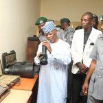 Senate Comptroller-General of Customs, Col. Hameed Ibrahim Ali (Rtd) - in blue