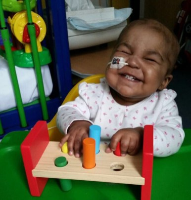 1-year-old Layla Richards is the first person to be cured of 'incurable' cancer with 'designer' immune therapy | Great Ormond Street Hospital /PA Wire