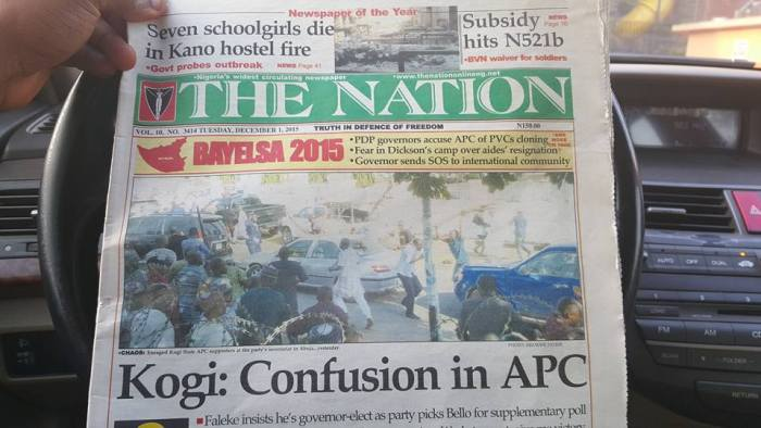 The Nation's cover everywhere in Nigeria | Facebook