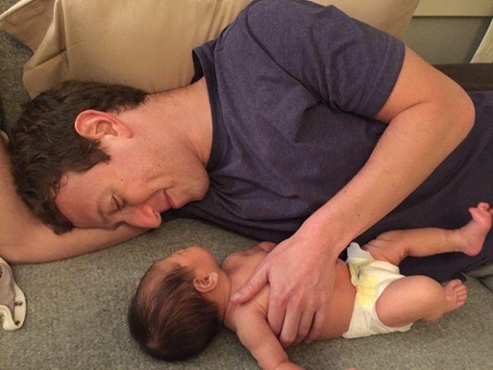 Mark Zuckerberg and daughter, Max | Facebook