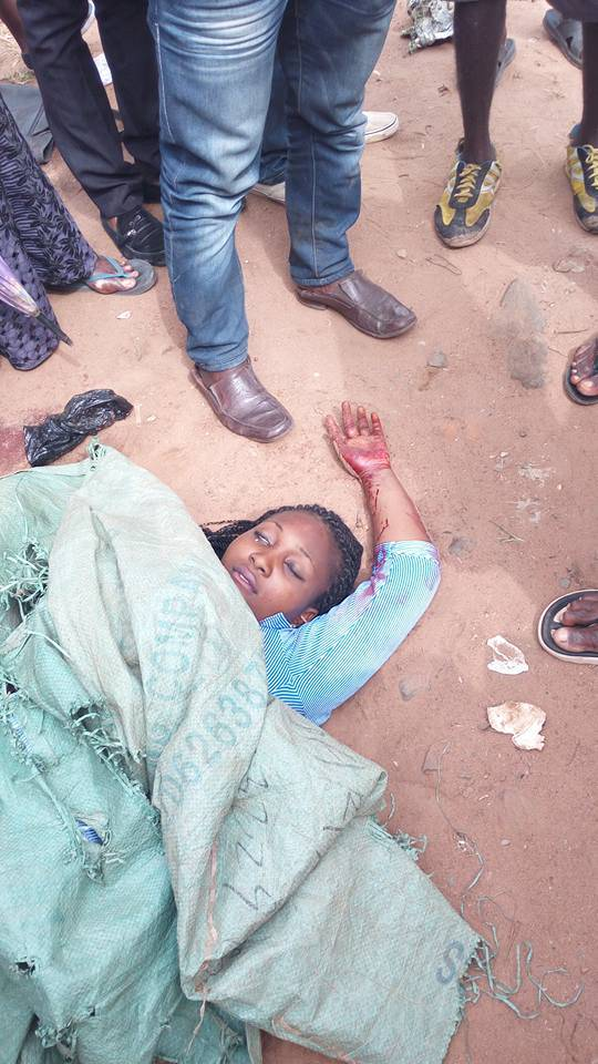 Nkiruka Anthonia Ikeanyionwu was shot dead by the police during the pro-biafran protest in Onitsha on Wednesday, December 2, 2015