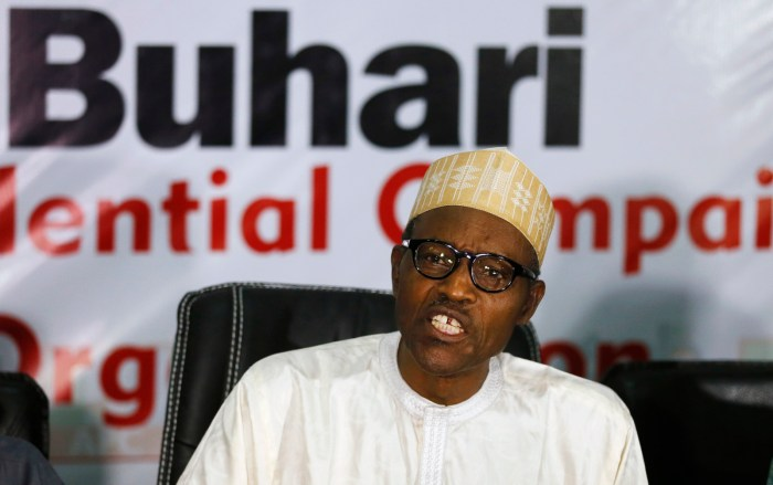General Muhammadu Buhari pictured at the All Progressives Congress (APC) press event in Abuja February 8, 2015. | Reuters/Afolabi Sotunde