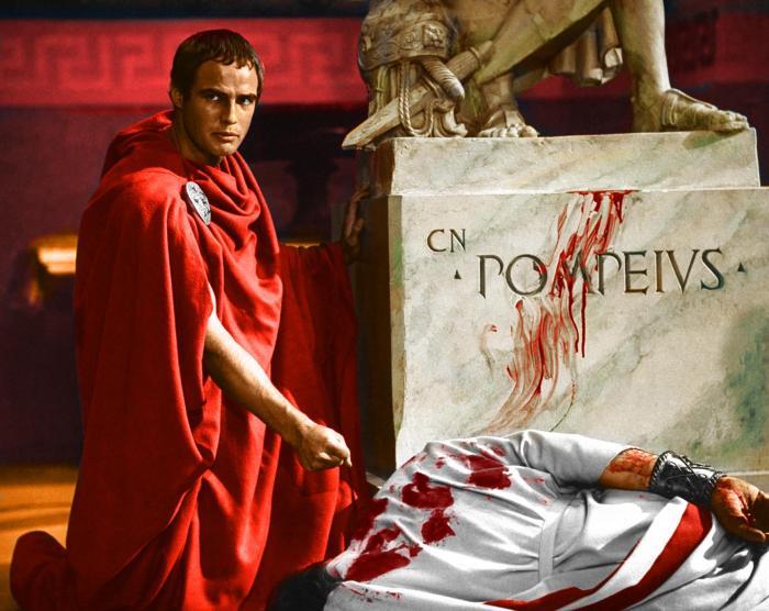 Marlon Brando as Marcus Antonius in the film Julius Ceasar