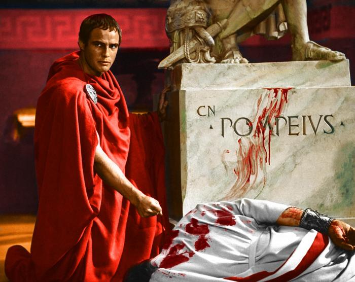 Marlon Brando as Marcus Antonius in the film Julius Ceasar