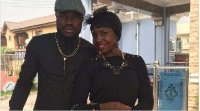 Super Eagles and Amkar Perm of Russia player, Fegor Ogude, and wife Maimunat Ogude | The Cable
