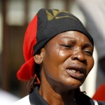 Fani-Kayode rising sun A Biafra supporter cries during a rally in support of Nnamdi Kanu
