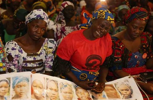 A cross section of mothers of the Chibok schoolgirls abducted from their school in 2014. The parents had staged a rally to Aso Rock to meet with President Buhari on Thursday, January 14, 2015 | Philip Ojisua