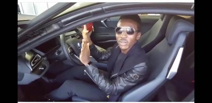 Frank Edwards in BMW 8ii given to him by Don Moen