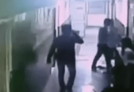 He apparently tried to attack another woman in a nearby hospital (Picture: Haryana Police)