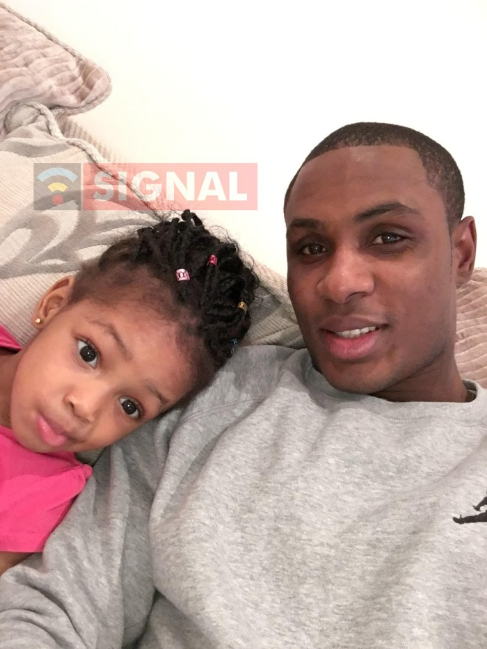 Odion Ighalo with his daughter   SIGNAL