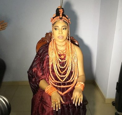 Olori Wuraola, the new wife of the Ooni of Ife