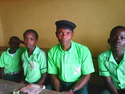 60-year-old Adalabu Seribor,  JSS 2 student of Izon College, Bomadi- Overside in Bomadi Local Government Area, Delta State.