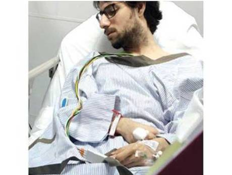 Dr Muhannad Al Zabn recuperating after the incident. | Courtesy Okaz