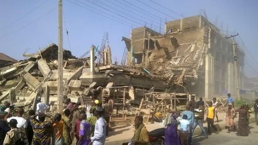 Building collapses in Abeokuta on Friday, May 13, 2016
