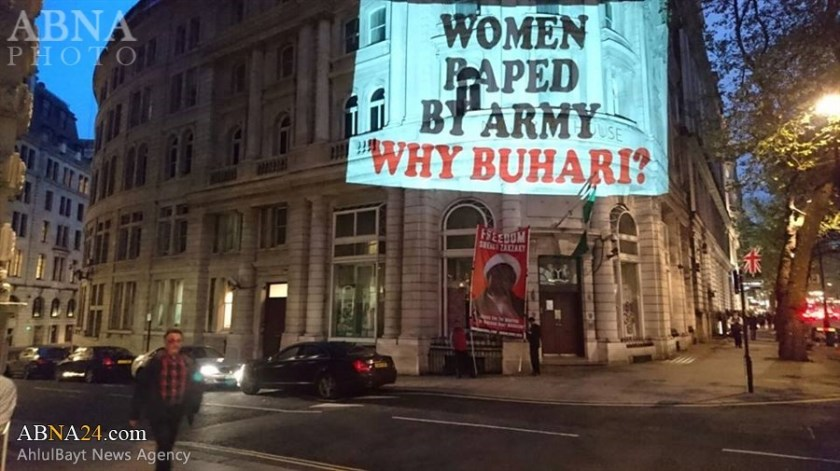 Image result for buhari protesters in london