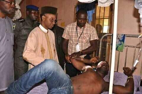 41-year-old, Francis Emmanuel, a Christian stabbed by Muslim youth in Kaduna for eating during Ramadan visited by Governor Nasir El Rufai in his hospital bed
