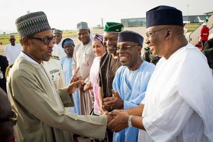 Nigeria's president, General Muhammadu Buhari returns to Nigeria from London after his sick leave on Sunday, June 19, 2016 | State House Photo