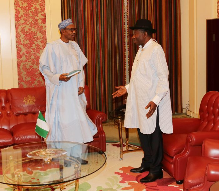 President Buhari receives former President Goodluck Jonathan at the Presidential Villa, Aso Rock, Abuja on August 3, 2016 | Sunday Aghaeze/State House Photo