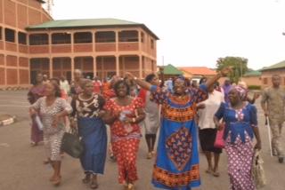 Wuye market women in jubilation on Thursday, August 4, 2016