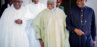 Ex presidents Ernest Shonekan, General Abdulsalami Abubakar, and Dr. Goodluck Jonathan (from left to right)