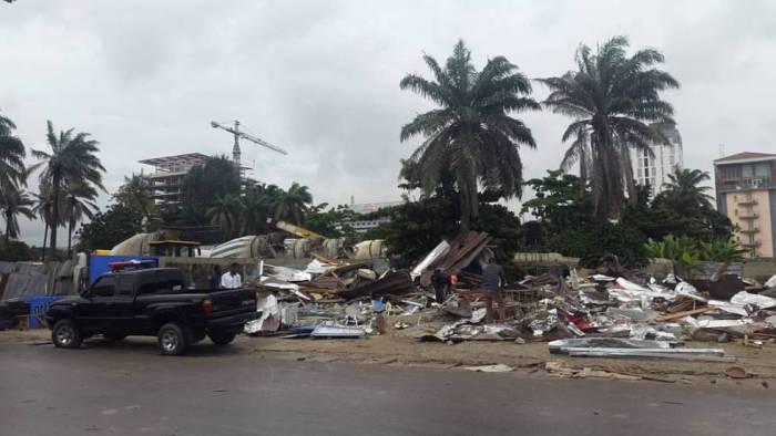 The demolished shop | Okechukwu Ofili/Facebook