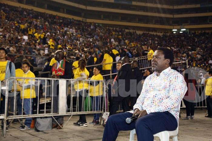 Prophet Stops Ministration, Sits In Protest Until Crowd Responds | PRNewsFoto/Emmanuel TV