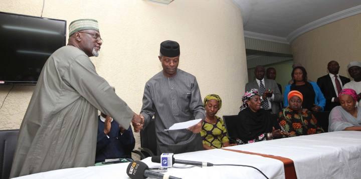 Boko Haram Chibok Lawal Daura Osinbajo
