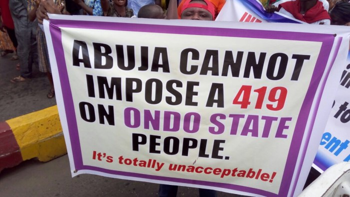 RIP Jimoh: Day 2 of protests in Akure over the name swap by INEC of the PDP candidate with an Accord Party member | Ondo TV