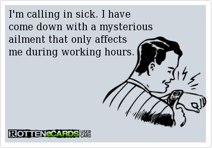 Calling Off Work Excuses
