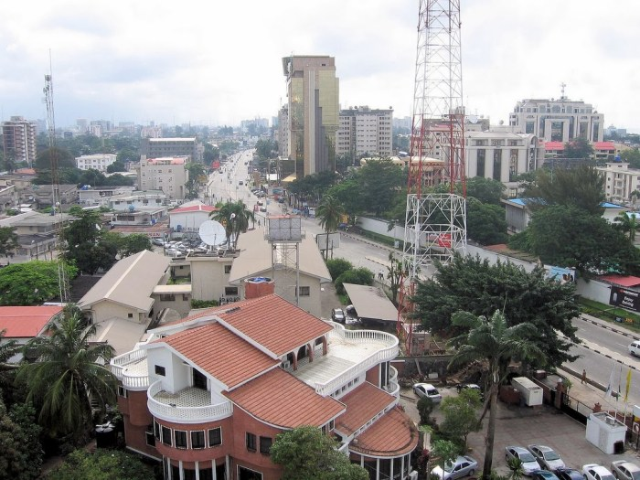 Aerial view of Adeola Odeku Street, Victoria Island, Lagos | Photos of Nigeria Blogspot