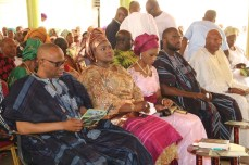 From left; Former Governor of Ondo State, Dr Olusegun Mimiko, his Wife, Olukemi and his children, Bibitayo and Bayonle, and Former Nigerian Ambassador to Central African Republic, Ambassador Roland Omowa.